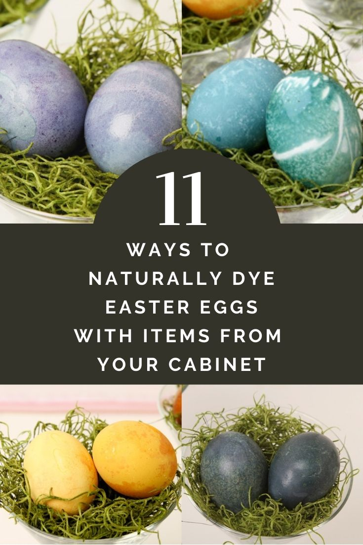 11 ways to naturally dye easter eggs