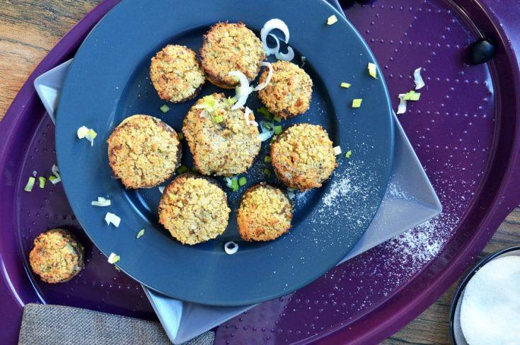 Stuffed Mushrooms with Cashew Cream Couscous – Vegan