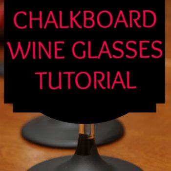 Chalkboard Wine Glasses Tutorial