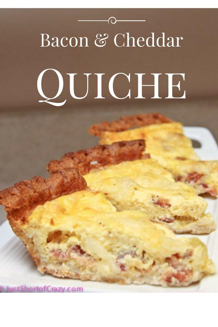 Bacon & Cheddar Quiche