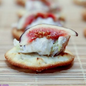 5 Ingredient Goat Cheese & Fig Bites Recipe