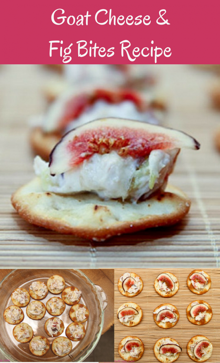 5 Ingredient Goat Cheese & Fig Bites Recipe - Just Short ...