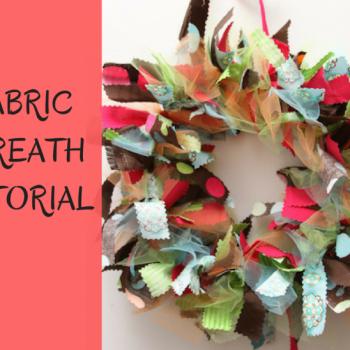 Fabric Wreath DIY