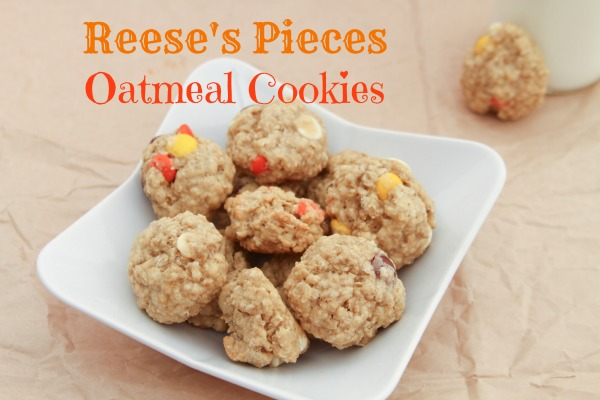 Reese's Pieces Oatmeal Cookies - Just Short of Crazy