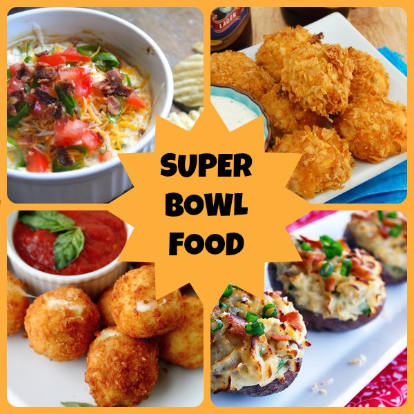 Superbowl Food Collage