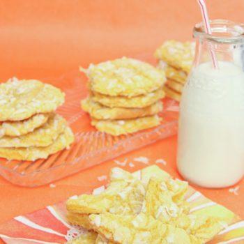 Lemon Coconut Cake Mix Cookies