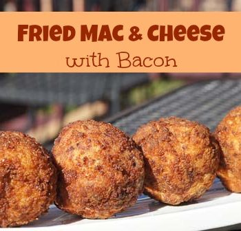 fried mac & cheese with bacon