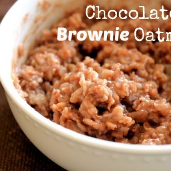 chocolate brownie oatmeal