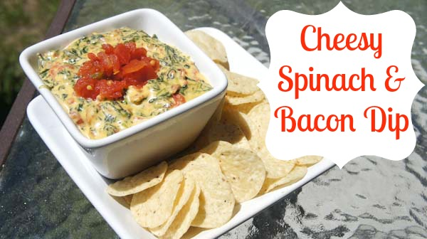 Cheesy Spinach & Bacon Dip