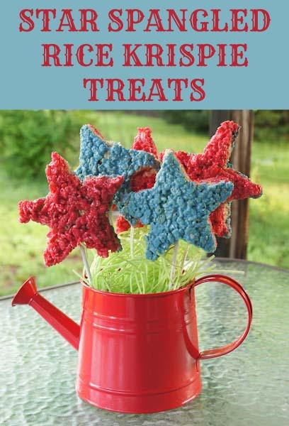 star spangled rice krispie treats