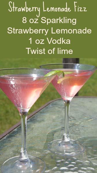 Strawberry Fizz Cocktail