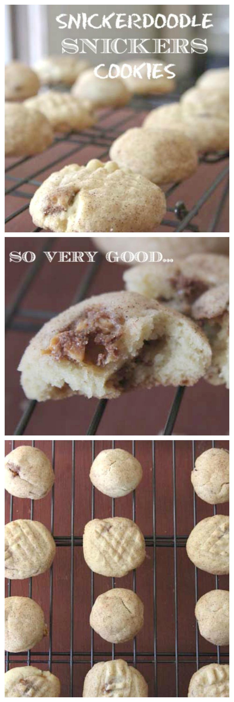 Snickerdoodle Snickers Cookies
