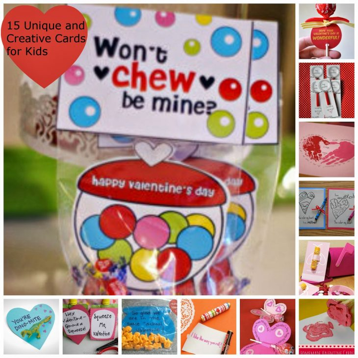 15 Unique and Creative Valentines Cards for Kids Just Short of – Kids Photo Valentine Cards