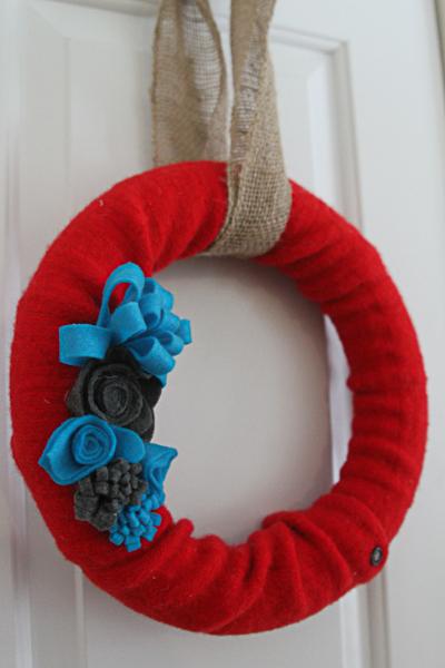 sweater wreath