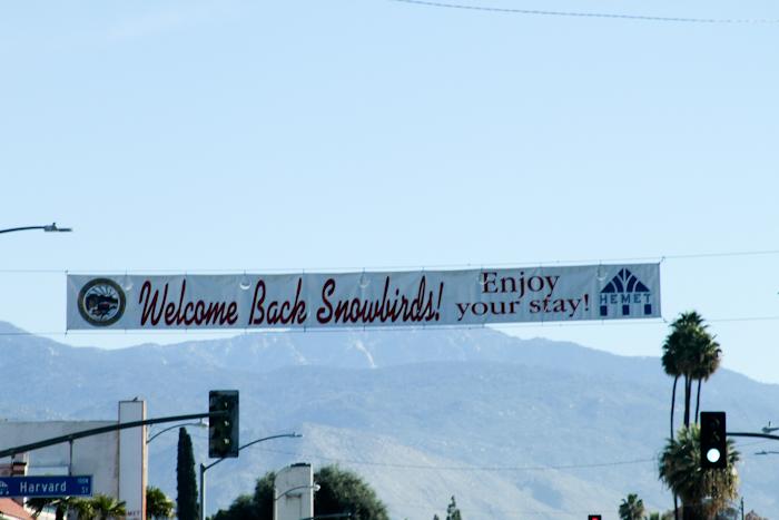 Snowbird Services in the San Jacinto Valley