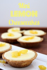Mini Lemon Cheesecakes
