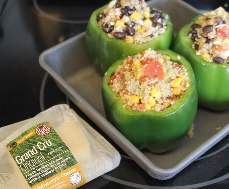 Quinoa Stuffed Peppers with Roth Cheese Recipe