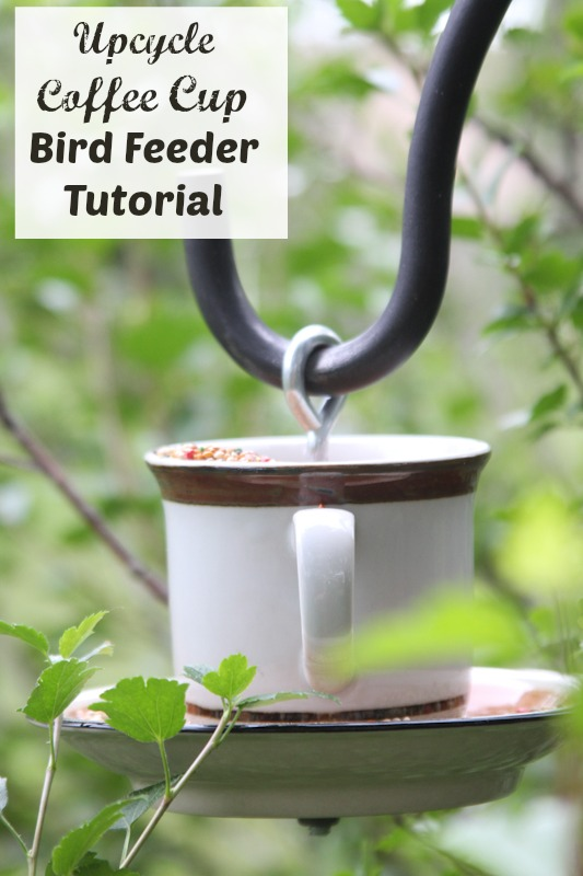 Upcycle Coffee Cup Bird Feeder Tutorial Just Short Of Crazy
