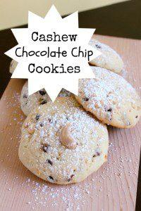 cashew chocolate chip cookie recipe