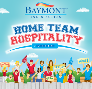 Win up to 50 FREE Hotel Nights at Baymont Inn & Suites #HomeTeamHospitality