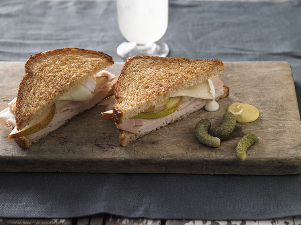 Turkey Brie Grilled Cheese