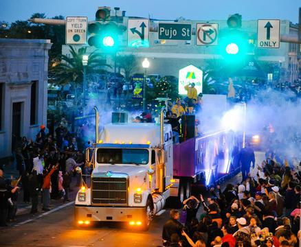the second largest Mardi Gras in louisiana is a lot of fun and can be found in Lake Charles, LA