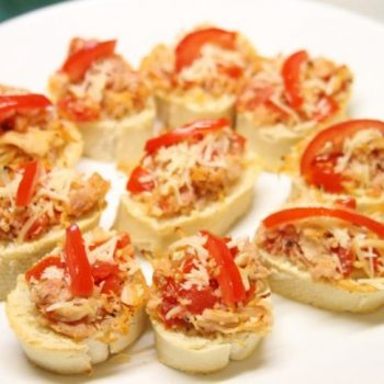 Chicken Bruschetta Bites