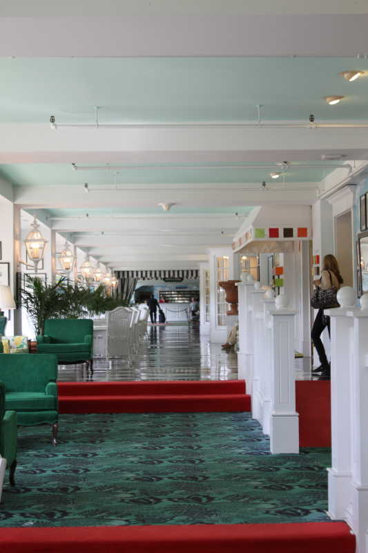 Inside the Grand Hotel shopping mezzanine on Mackinac Island