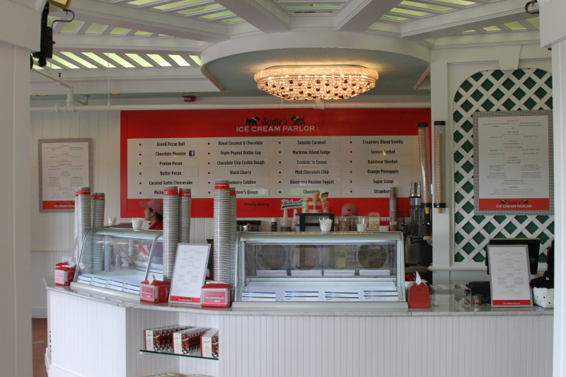 Inside Sadie's Ice Cream Shop in the Grand Hotel on Mackinac Island