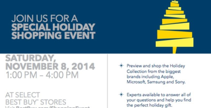 You're Invited to the Best Buy Holiday Shopping Event #BBYShoppingEvent