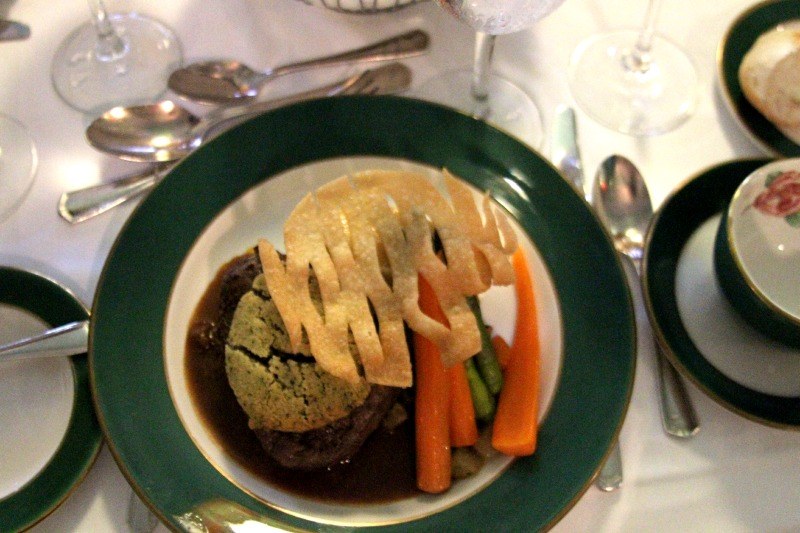 dinner served at Grand Hotel Mackinac Island