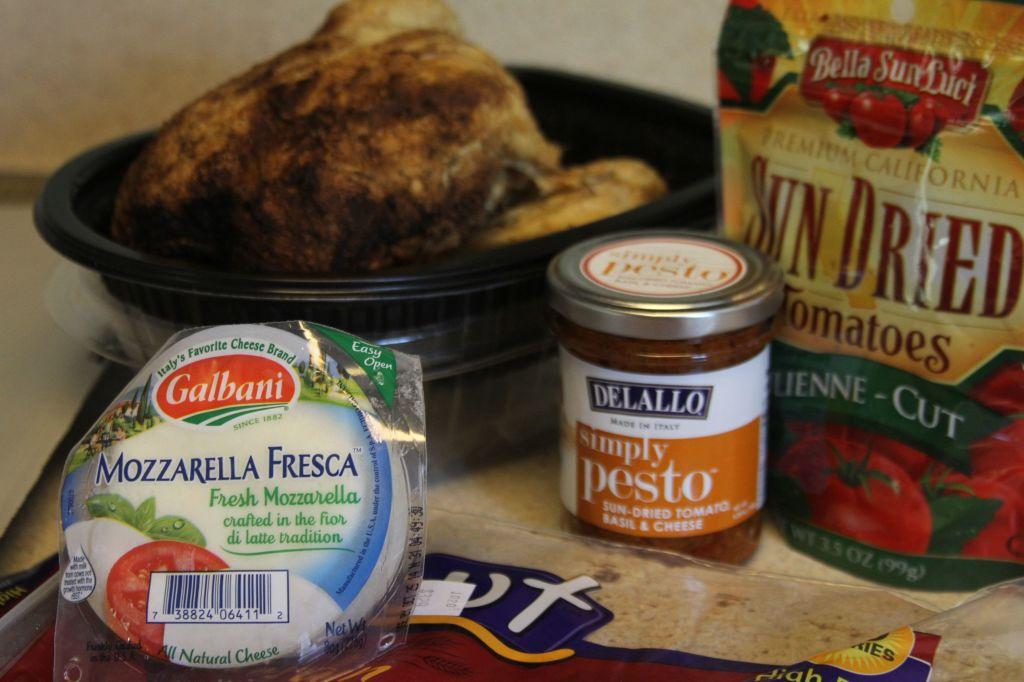 Chicken and Sun Dried Tomato Flatbread