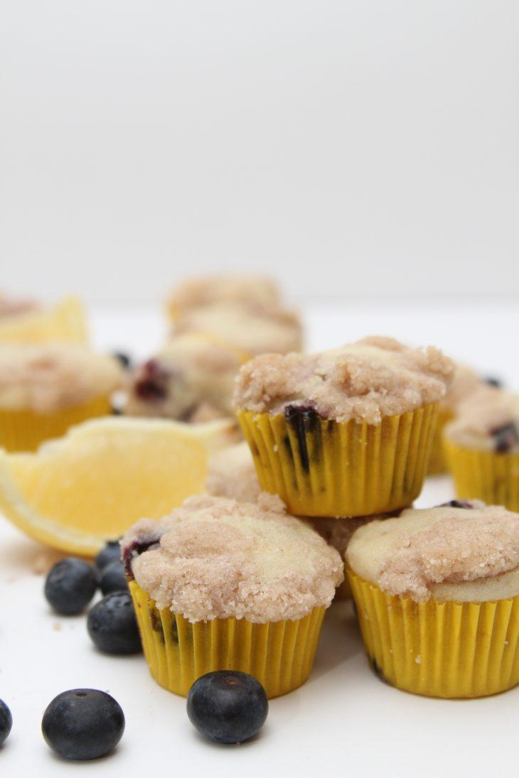 Mini Lemon Blueberry Coffee Cake - Just Short of Crazy