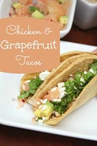 Chicken Grapefruit Tacos