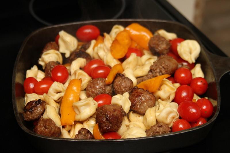 Sausage and Tomato Skillet