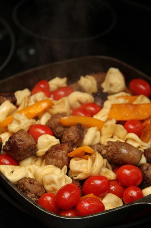 Johnsonville® Sausage and Tortellini Skillet Recipe