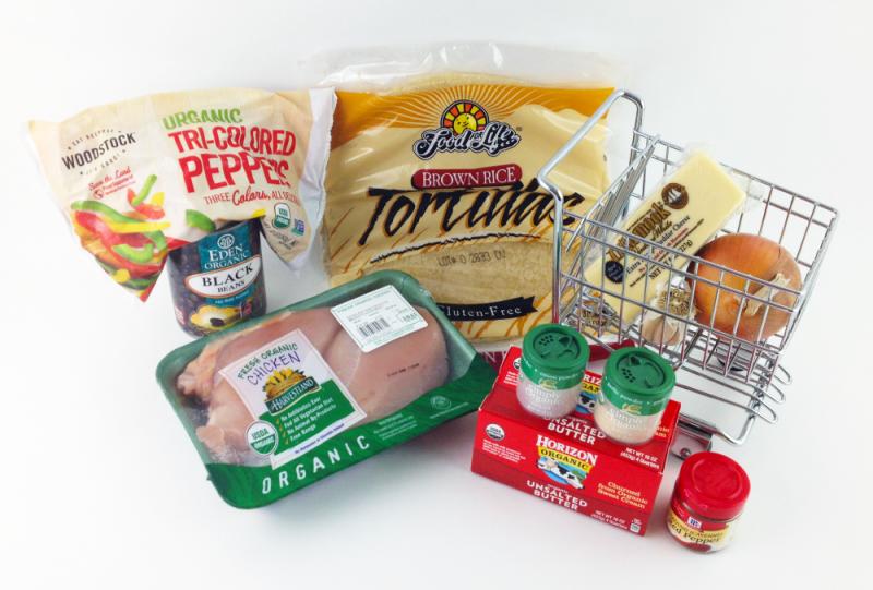 Organic Chicken Quesadillas Ingredients