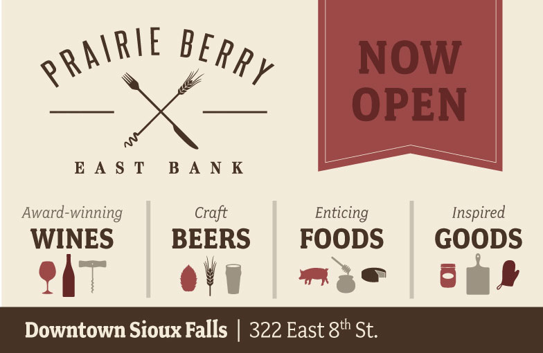 opened a new location in downtown sioux falls prairie berry east bank