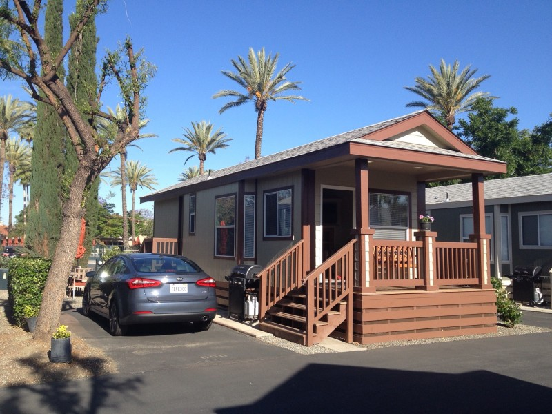 Experience Tiny House Living At Golden Village Palms RV Resort