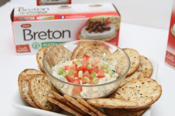 Spinach Tomato Dip Recipe #BretonGlutenFree