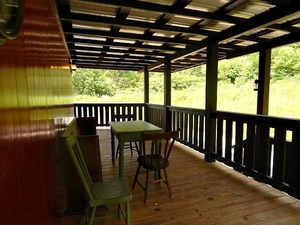 Fiddlestix Caboose Porch