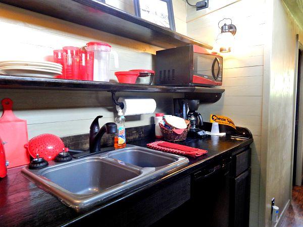 Fiddlestix Caboose kitchen