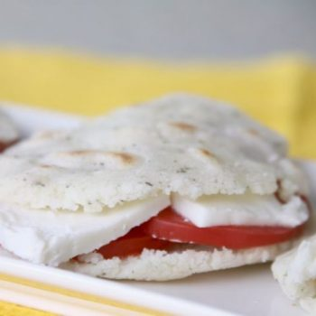 Caprese Arepa Sandwich