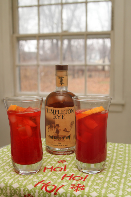 cranberry whiskey punch recipe - just short of crazy