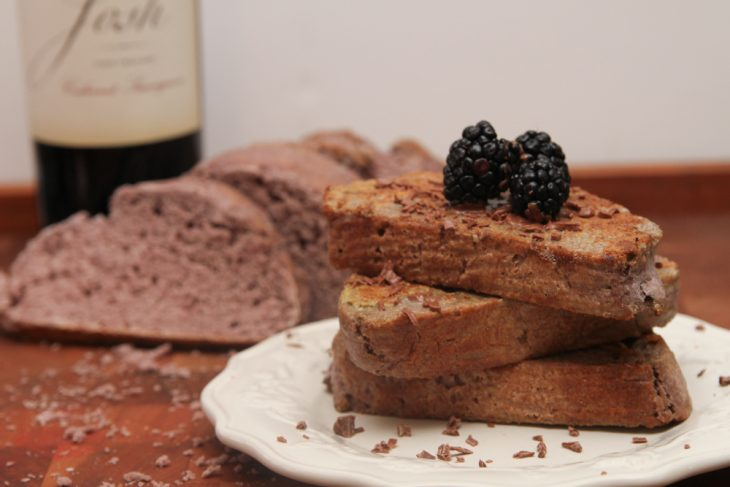 Red Wine and chocolate French Toast -1