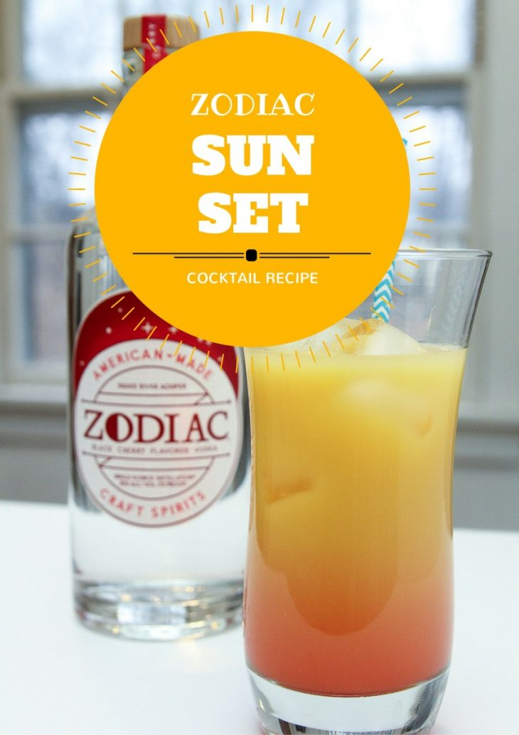 Zodiac sunset cocktail