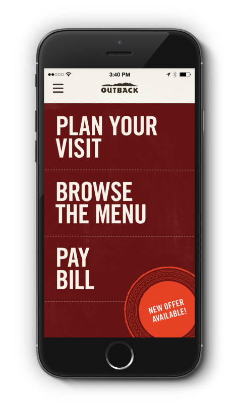 Outback Steakhouse Mobile App