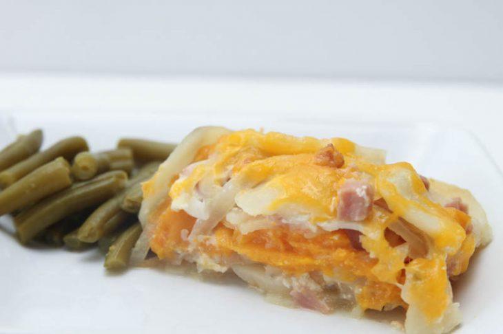 slow cooker potatoes & ham recipe