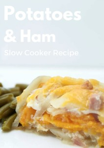 Slow Cooker Potatoes and Ham Recipe