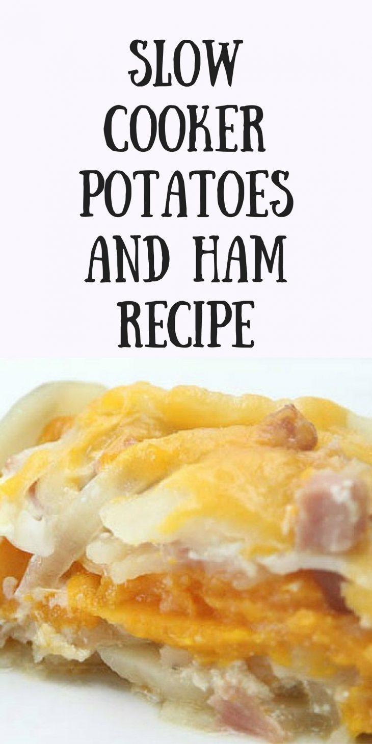 Slow Cooker Potatoes and Ham Recipe